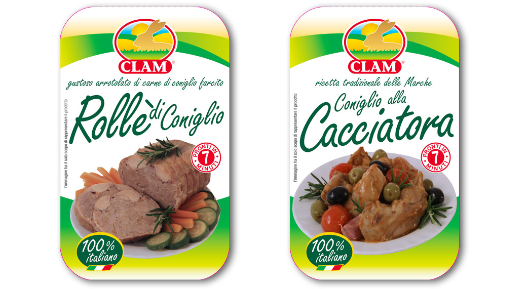 packaging coniglio CLAM